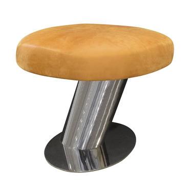 Karl Springer Cantilevered Mushroom Bench 1980s (signed)