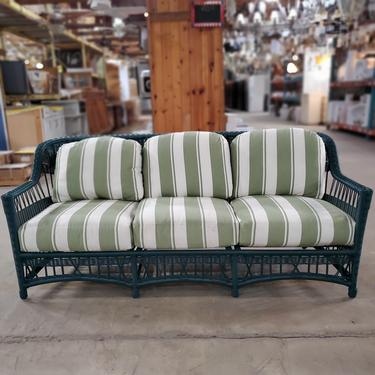 Green All-Weather Wicker Outdoor Sofa
