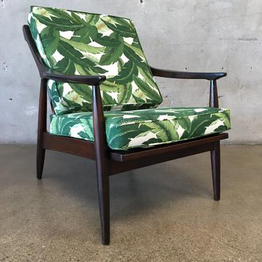 Vintage Baumrihe Lounger in White Orchid Upholstery