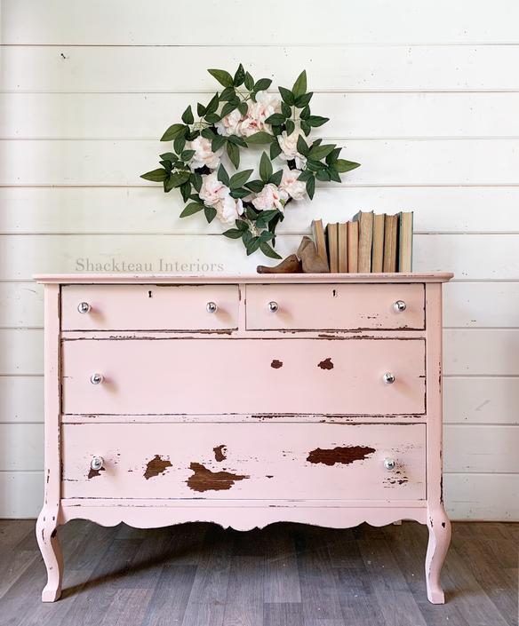 Vintage Blush Pink Dresser