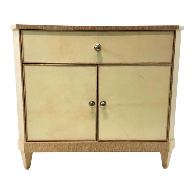 Century Inlaid Parchment Bedside Chest/Nightstand