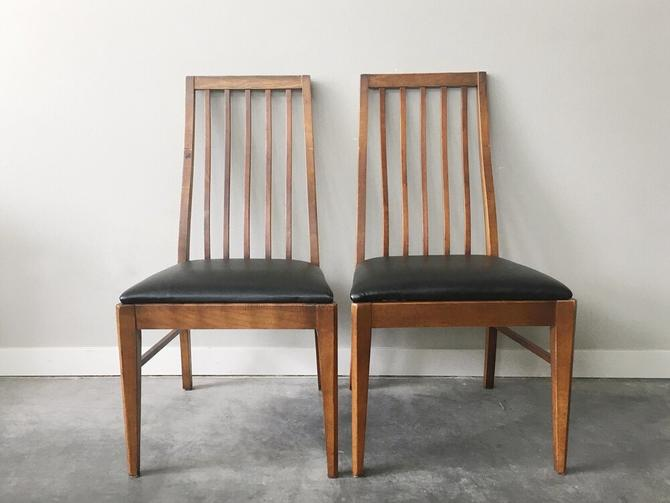 pair of vintage Lane dining chairs