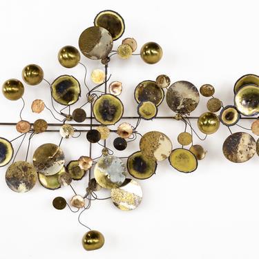 Curtis Jere Mid Century Brass Raindrops Sculpture - mcm by ModernHill