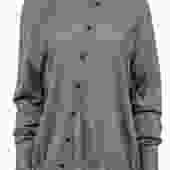 Alexander Wang - Grey Asymmetrical Button-Up Cardigan Sz S