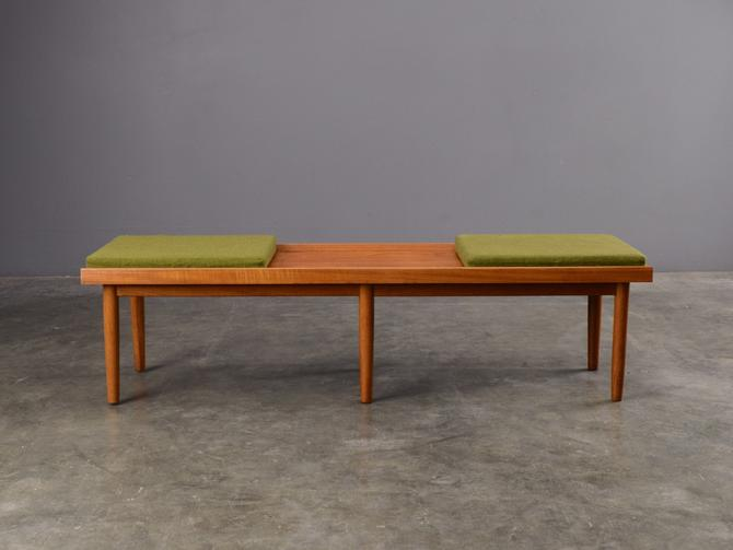 5ft Mid-Century Coffee Table Bench Teak Danish Modern by MadsenModern