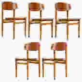 Børge Mogensen Set Model 122 Chairs by Søborg