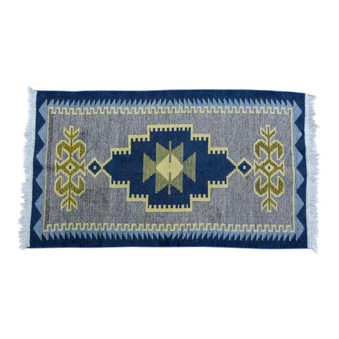 Handmade Vintage Kilim Rug - 4′4″ × 2′6″ by CapitolVintageCharm