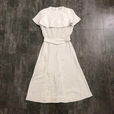 1940s linen dress set . vintage 40s dress by BlueFennel
