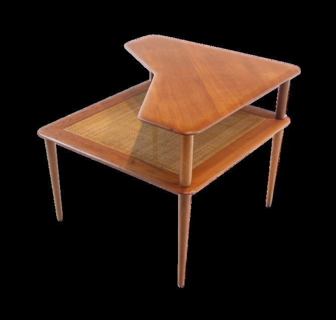 "Scandinavian Modern Teak ""Minerva"" Corner Table by Peter Hvidt"