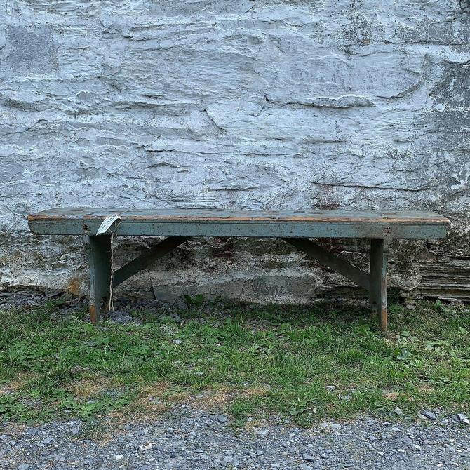 Amazing Vintage Blue Bench