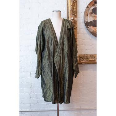 Sallie Durbin | Iridescent Olive Open Jacket by LadyofLizard
