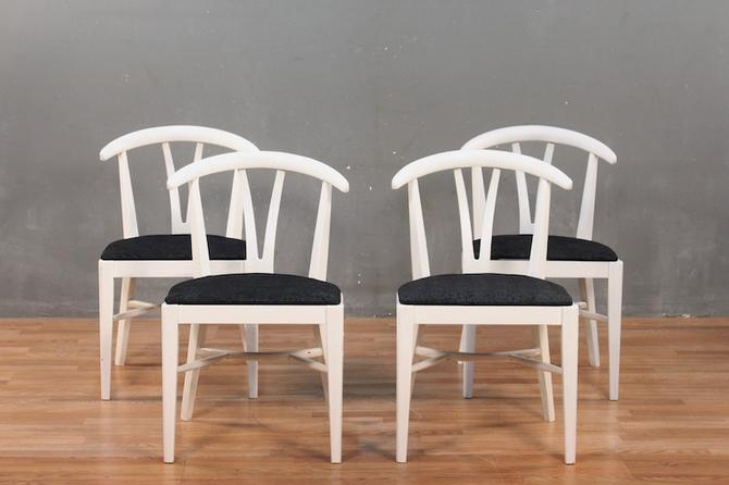 Painted White & Black Side Chair – ONLINE ONLY