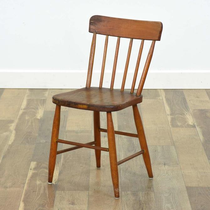 American Provincial Comb Back Dining Chair