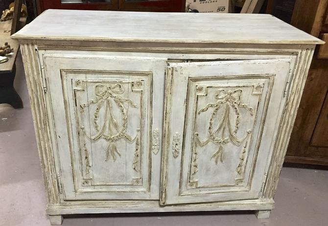 Antique French Painted Buffet Cupboard Cabinet Sideboard | circa 1800