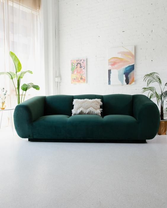 Olga Forest Green Sofa