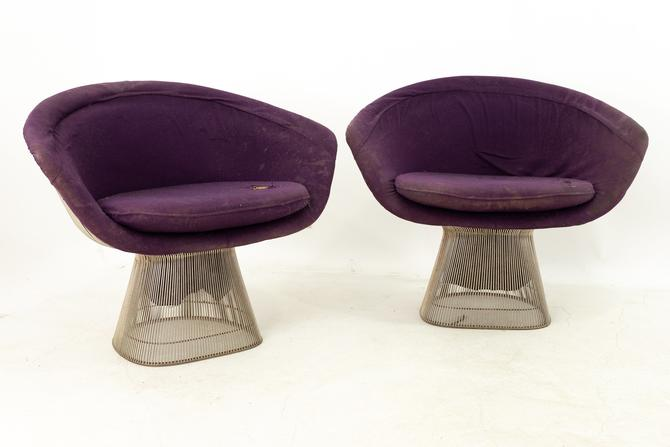 Warren Platner for Knoll Mid Century Lounge Chairs - Pair by ModernHill