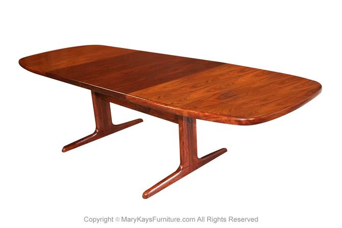 Danish Mid Century Skovby Expandable Rosewood Dining Table by Marykaysfurniture