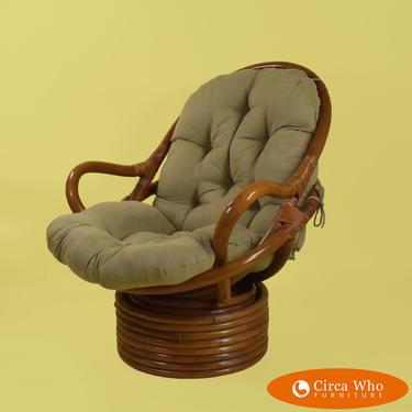 Single Papasan Swivel Chair