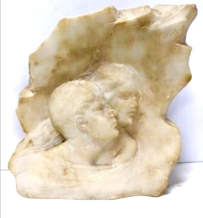 Antique vintage Italian marble sculpture by renowned sculptor P. Barzanti Firenne by LazyCamel