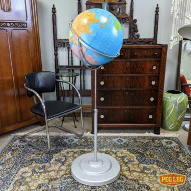 Vintage globe with adjustable stand