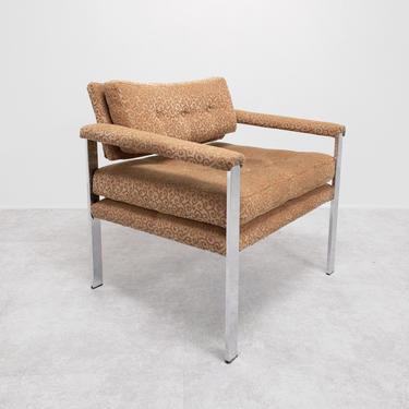 Milo Baughman-style Chrome Armchair by BetsuStudio