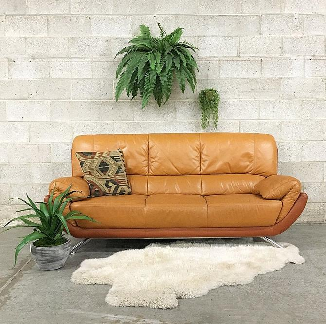 LOCAL PICKUP ONLY-----------Vintage Leather Sofa by RetrospectVintage215