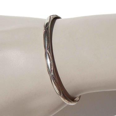 Vintage 70s Navajo Sterling Silver Cuff Bracelet Southwestern by MetroRetroVintage