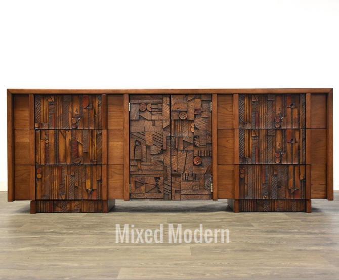 "Lane ""Pueblo"" Brutalist Long Dresser by mixedmodern1"