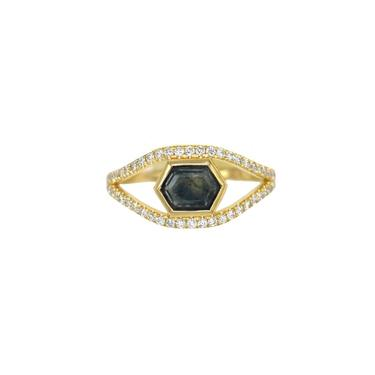 One Of A Kind Sapphire Split Ring