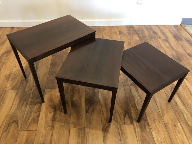 Bent Silberg Rosewood Nesting Tables by Vintagefurnitureetc