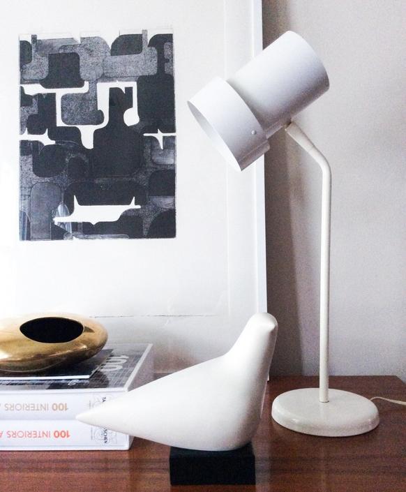 George Kovacs Double Shade Desk Lamp mid century modern Scandinavian Vintage by CaribeCasualShop