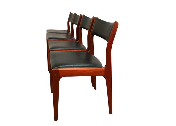 Johannes Andersen Uldum Møbelfabrik Danish Teak Dining Chairs by Marykaysfurniture