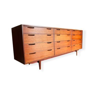 Mid-Century Danish Modern IB KOFOD-LARSEN Teak Triple Dresser / Credenza