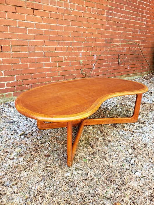 Retro Kidney Shaped Coffee Table Barkeaterlake Com