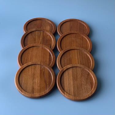 Set of 8 Dansk Teak Coasters made in Denmark by HomeAnthology