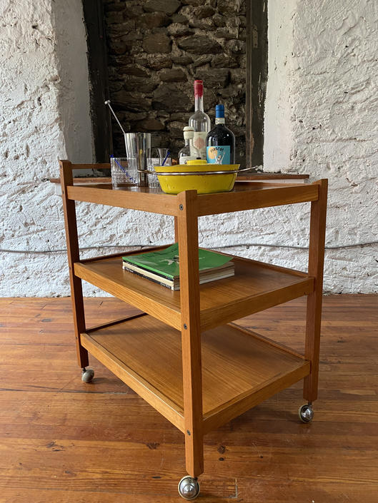 Mid century bar cart Danish modern serving cart mid century modern bar cart by VintaDelphia