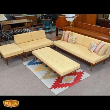 Artisan-made modular seating group