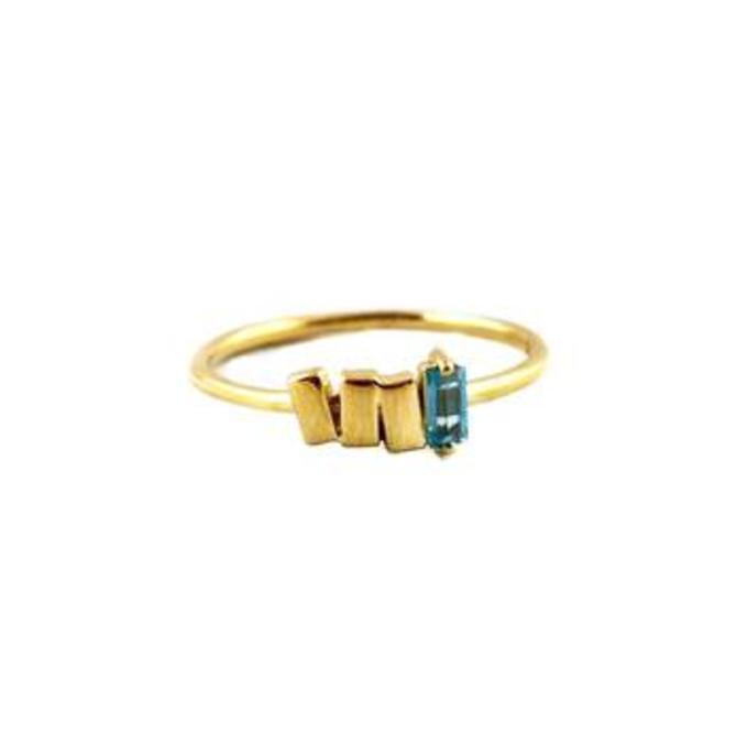 Gold & Topaz Baguette Ring