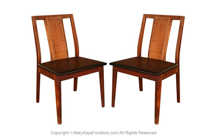 Pair Mid Century Chairs in the Style of Edward Wormley by Marykaysfurniture
