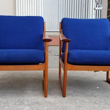 Danish Modern Teak Lounge Chairs by Peter Hvidt & Orla Mølgaard-Nielsen by JanakosAndCompany