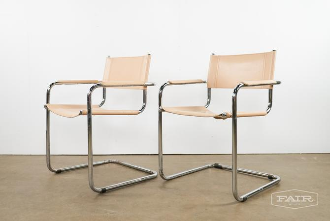 Breuer Style Chrome and Leather Chairs