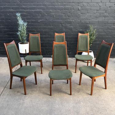 Set of 6 Danish Modern Teak Dining Chairs by Moreddi c.1950's by VintageSupplyLA