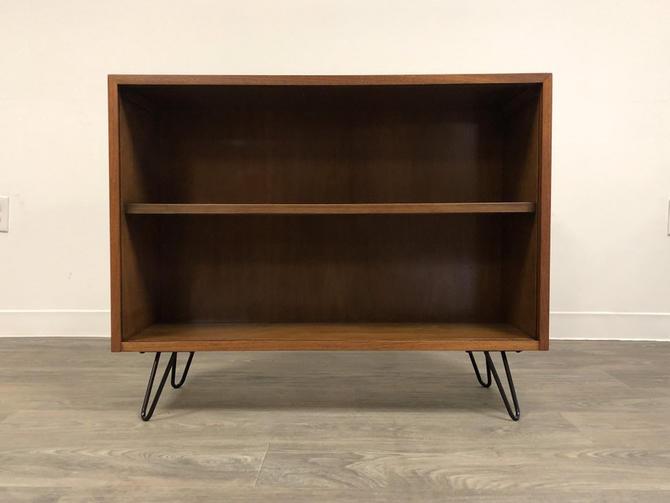 Walnut Mid Century Bookcase by mixedmodern1