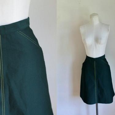 "Vintage 1970s Girl Scout Uniform Skirt / 8x / 23"" waist by MsTips"