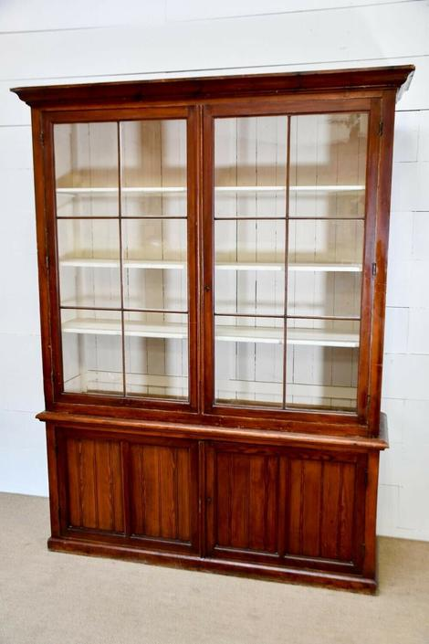 Antique Country Store Display Library Cabinet | Store Restaurant Fixture