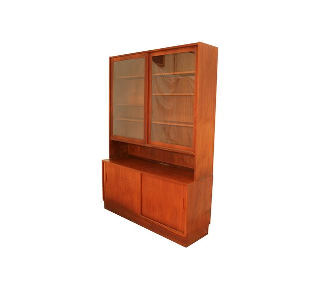 Danish Modern Teak Sideboard Hutch by Marykaysfurniture