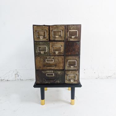Metal Multi Drawer End Table
