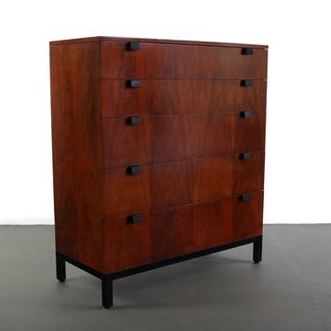 Tall Milo Baughman for Directional Dresser In Walnut by ABTModern