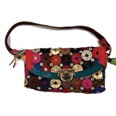 Boho Chic Leather Shoulder Handbag