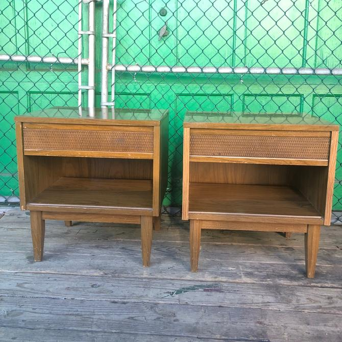 Mid Century End Tables w Drawer by Kroehler
